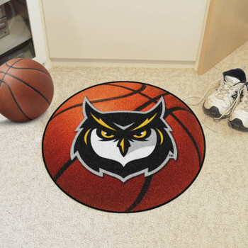 "27"" Kennesaw State University Owls Orange Basketball Style Round Mat"