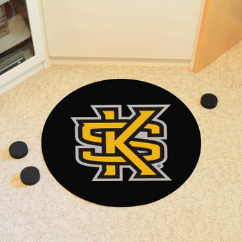 "27"" Kennesaw State University Puck Round Mat - ""Interlocked KS"" Logo"