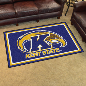4' x 6' Kent State University Blue Rectangle Rug