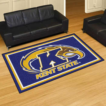 5' x 8' Kent State University Blue Rectangle Rug