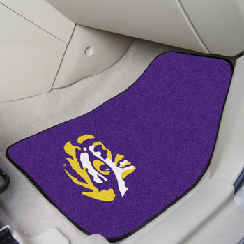 Louisiana State University Purple Carpet Car Mat, Set of 2