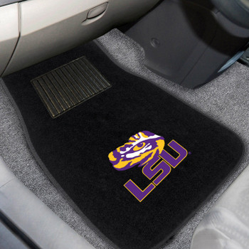 Louisiana State University Embroidered Black Car Mat, Set of 2