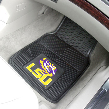 Louisiana State University Heavy Duty Vinyl Front Black Car Mat, Set of 2