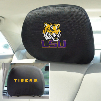 Louisiana State University Car Headrest Cover, Set of 2