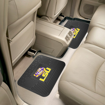 Louisiana State University Heavy Duty Vinyl Car Utility Mats, Set of 2