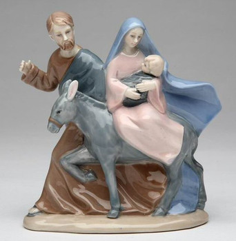 The Holy Family's Journey Porcelain Sculpture