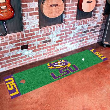 "18"" x 72"" Louisiana State University Putting Green Runner Mat"