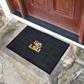 "19.5"" x 31.25"" Louisiana State University Medallion Rectangle Door Mat"