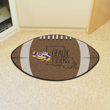 "20.5"" x 32.5"" Louisiana State University Southern Style Football Shape Mat"