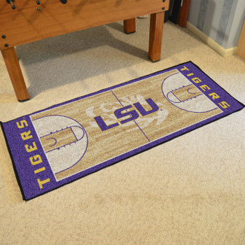 "30"" x 72"" Louisiana State University NCAA Basketball Rectangle Runner Mat"