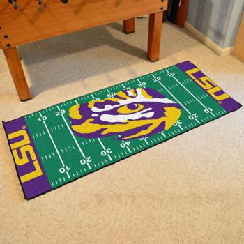 "30"" x 72"" Louisiana State University Football Field Rectangle Runner Mat"