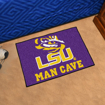 "19"" x 30"" Louisiana State University Man Cave Starter Purple Rectangle Mat"