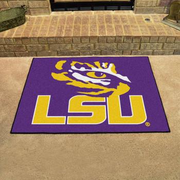"""33.75"""" x 42.5"""" Louisiana State University All Star Purple Rectangle Mat"""