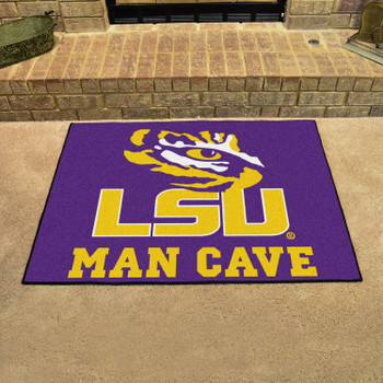 "33.75"" x 42.5"" Louisiana State University Man Cave All-Star Purple Rectangle Mat"