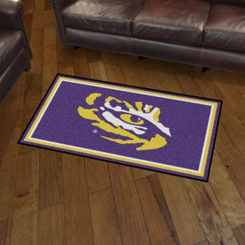 3' x 5' Louisiana State University Purple Rectangle Rug