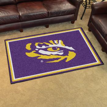 4' x 6' Louisiana State University Purple Rectangle Rug
