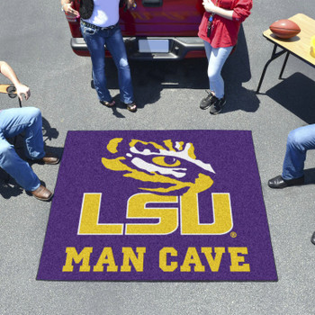 "59.5"" x 71"" Louisiana State University Man Cave Tailgater Purple Rectangle Mat"
