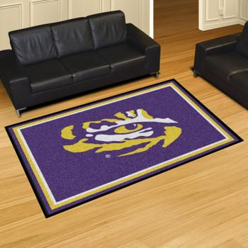 5' x 8' Louisiana State University Purple Rectangle Rug