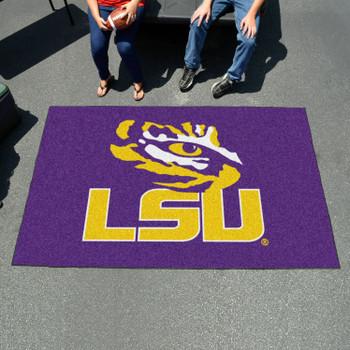 """59.5"""" x 94.5"""" Louisiana State University Purple Rectangle Ulti Mat"""