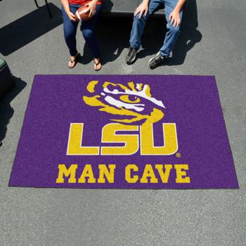 """59.5"""" x 94.5"""" Louisiana State University Man Cave Purple Rectangle Ulti Mat"""