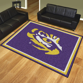 8' x 10' Louisiana State University Purple Rectangle Rug