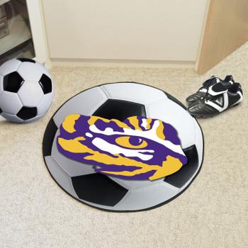 "27"" Louisiana State University Soccer Ball Round Mat"