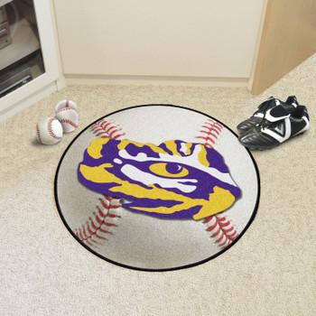 """27"""" Louisiana State University Baseball Style Round Mat"""