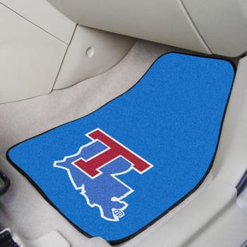 Louisiana Tech University Blue Carpet Car Mat, Set of 2