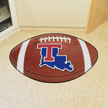 "20.5"" x 32.5"" Louisiana Tech University Football Shape Mat"
