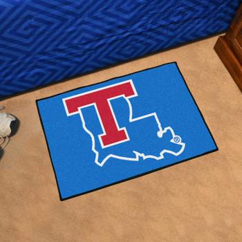"""19"""" x 30"""" Louisiana Tech University Blue Rectangle Starter Mat"""
