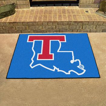 """33.75"""" x 42.5"""" Louisiana Tech University All Star Blue Rectangle Mat"""