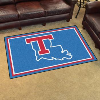 4' x 6' Louisiana Tech University Blue Rectangle Rug