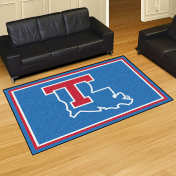 5' x 8' Louisiana Tech University Blue Rectangle Rug