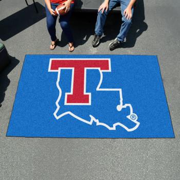 "59.5"" x 94.5"" Louisiana Tech University Blue Rectangle Ulti Mat"