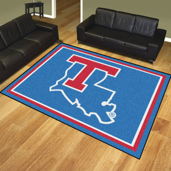 8' x 10' Louisiana Tech University Blue Rectangle Rug