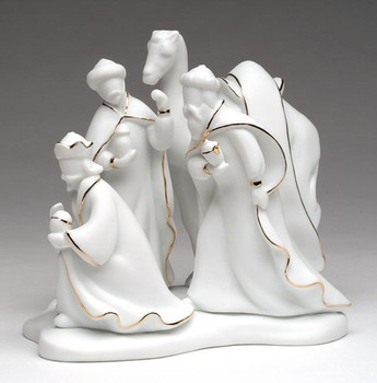 Three Wise Men Porcelain Sculpture