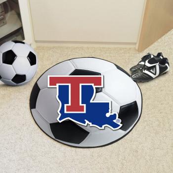"27"" Louisiana Tech University Soccer Ball Round Mat"