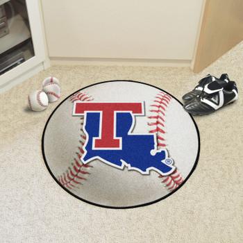 """27"""" Louisiana Tech University Baseball Style Round Mat"""