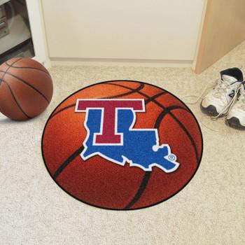 """27"""" Louisiana Tech University Basketball Style Round Mat"""