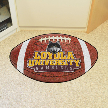 "20.5"" x 32.5"" Loyola University Chicago Football Shape Mat"