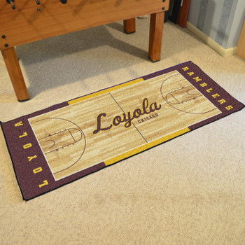 "30"" x 72"" Loyola University Chicago NCAA Basketball Rectangle Runner Mat"