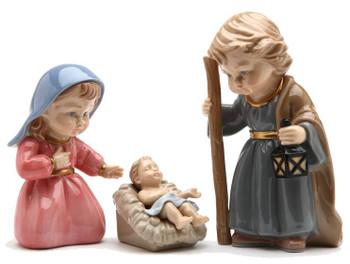 Children of God Holy Family Porcelain Sculptures, Set of 3