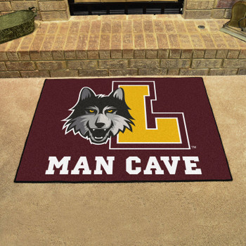 "33.75"" x 42.5"" Loyola University Chicago Man Cave All-Star Maroon Rectangle Mat"