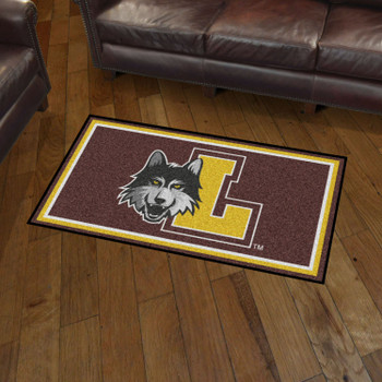 3' x 5' Loyola University Chicago Brown Rectangle Rug