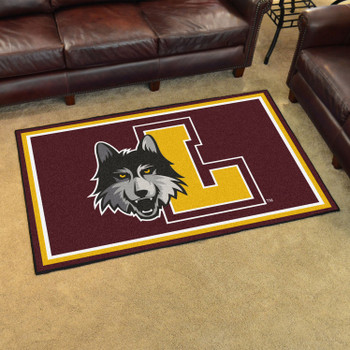 4' x 6' Loyola University Chicago Maroon Rectangle Rug