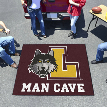 "59.5"" x 71"" Loyola University Chicago Man Cave Tailgater Maroon Rectangle Mat"