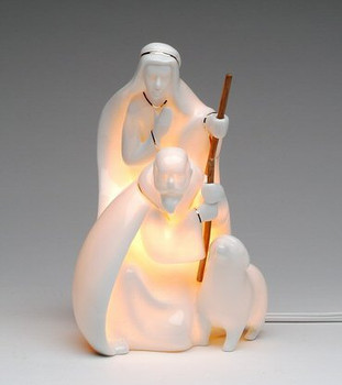 Shepherd Porcelain Lighted Nativity Scene Sculpture
