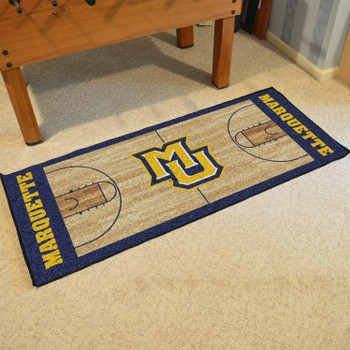 "30"" x 72"" Marquette University NCAA Basketball Rectangle Runner Mat"