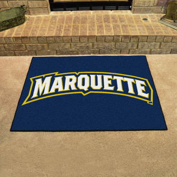"33.75"" x 42.5"" Marquette University All Star Navy Blue Rectangle Mat"