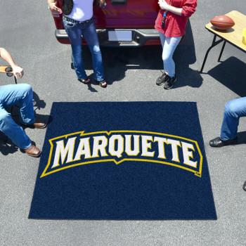 "59.5"" x 71"" Marquette University Navy Blue Tailgater Mat"